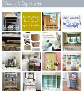 Organizing Tips for Homemakers